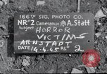Image of bodies exhumed Arnstadt Germany, 1945, second 1 stock footage video 65675029049