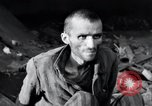 Image of emaciated prisoners Nordhausen Germany, 1945, second 10 stock footage video 65675029053