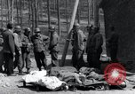 Image of dead Nazi slave laborers Nordhausen Germany, 1945, second 4 stock footage video 65675029059