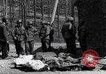 Image of dead Nazi slave laborers Nordhausen Germany, 1945, second 6 stock footage video 65675029059