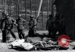 Image of dead Nazi slave laborers Nordhausen Germany, 1945, second 7 stock footage video 65675029059