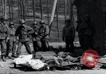 Image of dead Nazi slave laborers Nordhausen Germany, 1945, second 8 stock footage video 65675029059