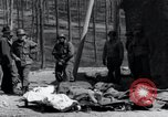 Image of dead Nazi slave laborers Nordhausen Germany, 1945, second 9 stock footage video 65675029059