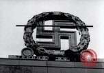 Image of German Swastika emblem Nuremberg Germany, 1945, second 9 stock footage video 65675029062