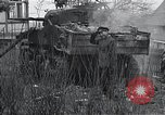 Image of wrecked M-4 tank Osterode Germany, 1945, second 9 stock footage video 65675029075