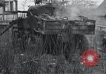 Image of wrecked M-4 tank Osterode Germany, 1945, second 10 stock footage video 65675029075
