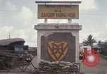 Image of entrance to Saigon railroad yard Saigon Vietnam, 1967, second 9 stock footage video 65675029142