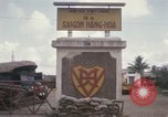 Image of entrance to Saigon railroad yard Saigon Vietnam, 1967, second 11 stock footage video 65675029142
