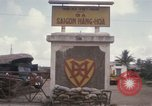 Image of entrance to Saigon railroad yard Saigon Vietnam, 1967, second 12 stock footage video 65675029142