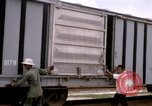 Image of unloading cargo Saigon Vietnam, 1967, second 1 stock footage video 65675029150