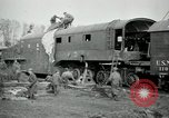 Image of railroad guns Belleville France, 1918, second 4 stock footage video 65675029230
