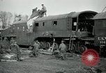 Image of railroad guns Belleville France, 1918, second 5 stock footage video 65675029230