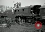 Image of railroad guns Belleville France, 1918, second 7 stock footage video 65675029230