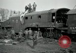 Image of railroad guns Belleville France, 1918, second 8 stock footage video 65675029230