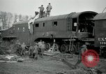 Image of railroad guns Belleville France, 1918, second 9 stock footage video 65675029230