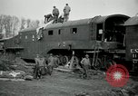Image of railroad guns Belleville France, 1918, second 11 stock footage video 65675029230