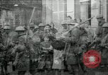 Image of US Army troops with French children in World War 1 France, 1918, second 1 stock footage video 65675029238