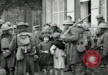 Image of US Army troops with French children in World War 1 France, 1918, second 4 stock footage video 65675029238