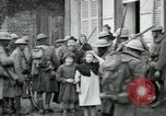 Image of US Army troops with French children in World War 1 France, 1918, second 9 stock footage video 65675029238