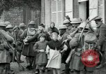 Image of US Army troops with French children in World War 1 France, 1918, second 10 stock footage video 65675029238