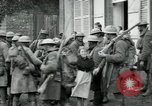 Image of US Army troops with French children in World War 1 France, 1918, second 12 stock footage video 65675029238