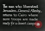 Image of Edmund Allenby Cairo Egypt, 1918, second 1 stock footage video 65675029247