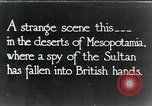 Image of British troops in a defensive position Mesopotamia, 1917, second 1 stock footage video 65675029249