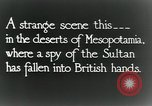 Image of British troops in a defensive position Mesopotamia, 1917, second 9 stock footage video 65675029249