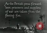Image of Turkish prisoners of war march under British guard Palestine, 1918, second 2 stock footage video 65675029253