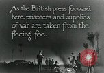Image of Turkish prisoners of war march under British guard Palestine, 1918, second 5 stock footage video 65675029253