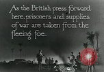 Image of Turkish prisoners of war march under British guard Palestine, 1918, second 7 stock footage video 65675029253