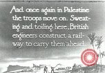 Image of British Engineers build a railroad in the desert Palestine, 1918, second 1 stock footage video 65675029254