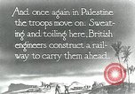 Image of British Engineers build a railroad in the desert Palestine, 1918, second 2 stock footage video 65675029254