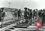 Image of British Engineers build a railroad in the desert Palestine, 1918, second 3 stock footage video 65675029254