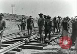 Image of British Engineers build a railroad in the desert Palestine, 1918, second 4 stock footage video 65675029254