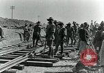 Image of British Engineers build a railroad in the desert Palestine, 1918, second 5 stock footage video 65675029254