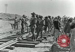 Image of British Engineers build a railroad in the desert Palestine, 1918, second 6 stock footage video 65675029254