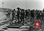 Image of British Engineers build a railroad in the desert Palestine, 1918, second 7 stock footage video 65675029254