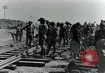 Image of British Engineers build a railroad in the desert Palestine, 1918, second 8 stock footage video 65675029254