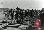 Image of British Engineers build a railroad in the desert Palestine, 1918, second 9 stock footage video 65675029254