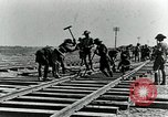 Image of British Engineers build a railroad in the desert Palestine, 1918, second 10 stock footage video 65675029254