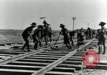 Image of British Engineers build a railroad in the desert Palestine, 1918, second 11 stock footage video 65675029254