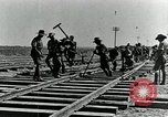 Image of British Engineers build a railroad in the desert Palestine, 1918, second 12 stock footage video 65675029254