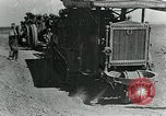 Image of British howitzers pulled by tractor Palestine, 1918, second 8 stock footage video 65675029255