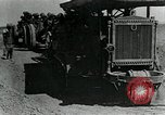 Image of British howitzers pulled by tractor Palestine, 1918, second 9 stock footage video 65675029255