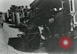 Image of British howitzers pulled by tractor Palestine, 1918, second 11 stock footage video 65675029255