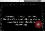 Image of Mexican Federal Army troops departing Mexico City along railroad Mexico City Mexico, 1914, second 1 stock footage video 65675029259