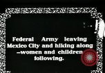 Image of Mexican Federal Army troops departing Mexico City along railroad Mexico City Mexico, 1914, second 4 stock footage video 65675029259