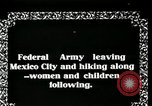 Image of Mexican Federal Army troops departing Mexico City along railroad Mexico City Mexico, 1914, second 6 stock footage video 65675029259