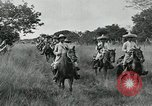 Image of Mexican Federal cavalry and army forces march on plains Veracruz Mexico, 1914, second 9 stock footage video 65675029261